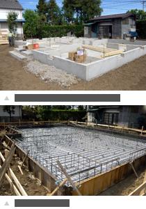 ベタ基礎コンクリート打設 ベタ基礎配筋